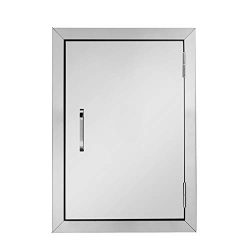 "ROVSUN Outdoor Kitchen Door, 304 Grade Heavy Duty BBQ Access Door, 17""W x 24""H Flush ..."