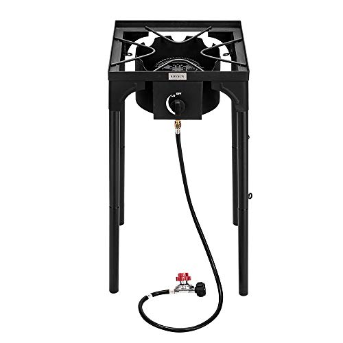 ROVSUN Portable Propane Burner High Pressure, Single Gas Stove Cooker for Outdoor Camp Cooking H ...