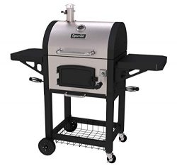 Dyna-Glo DGN405SNC-D Heavy Duty Stainless Charcoal charcaol Grill, Standard, (Renewed)