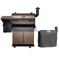 Z GRILLS ZPG-700D Wood Pellet Grill Smoker for Outdoor Cooking with Cover