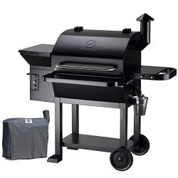 Z GRILLS 2020 Upgrate Wood Pellets Grill 1000 SQIN 20LB Hopper 8-in-1 Outdoor Smoker Grill (ZPG- ...