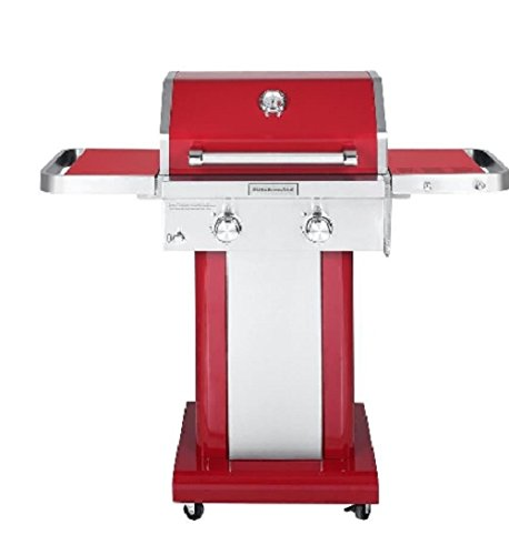KitchenAid 2-Burner Propane Gas Grill in Red