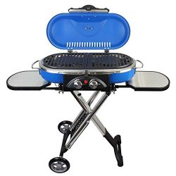 Mototeks, Inc. Portable BBQ Grill Propane Matchless Lighting Foldable CART for Camping Outdoor ( ...