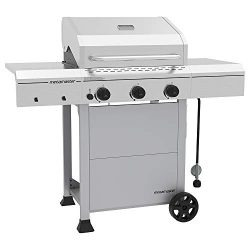 Megamaster 720-0804D Propane Gas Grill, Stainless Steel