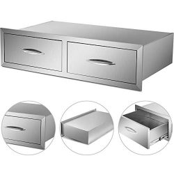 VBENLEM Outdoor Kitchen Drawers 39×10 Inch Stainless Steel Drawer BBQ Drawer for Outdoor BB ...