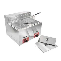 Commercial Stainless Steel Countertop Propane Gas Fryer with 10L2 Basket
