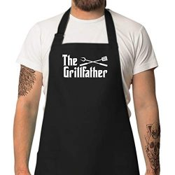 StarGifts BBQ Funny Aprons for Men |The Grillfather | Valentine Gifts for Him | One Size Fits Al ...
