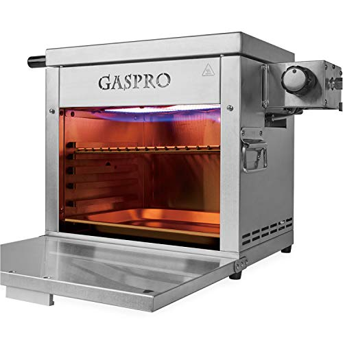 GASPRO Multi-Tasking Propane Infrared Outdoor Cooking Master, XL Steakhouse & Cast-Iron Grid ...