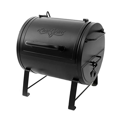 Char-Griller E82424 Side Fire Box Charcoal Grill, Black