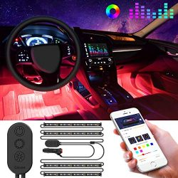 Interior Car Lights, Govee Car LED Strip Light Upgrade Two-Line Design Waterproof 4pcs 48 LED AP ...