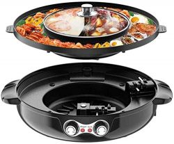 4.5L Removable Hot Pot Upgraded Electric Indoor Grill, 2200W 16.5 ft Separable Shabu Shabu 4.5L  ...