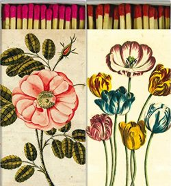 Decorative Matches Beautiful Rose and Tulips Match Boxes with Long Kitchen Matches Great for Lig ...