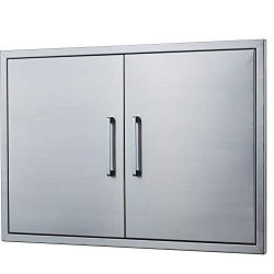 Outdoor Kitchen Doors Stainless Steel,30″ Double Access Door,Flush Mount for Outdoor Kitch ...
