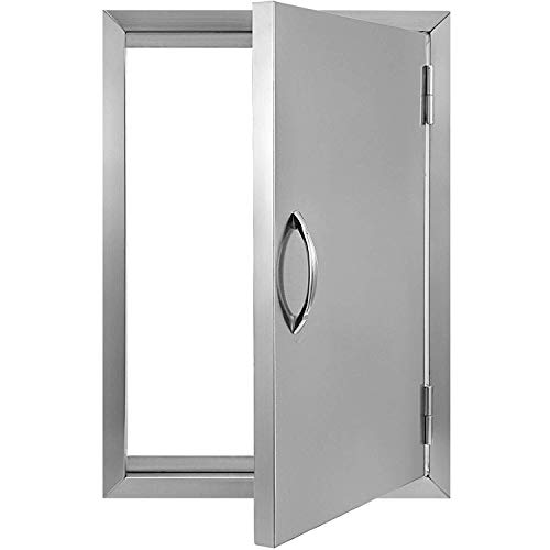 OASD BBQ Access Door 17W x 24H BBQ Island Door Brushed Stainless Steel for Outdoor Kitchen or BB ...