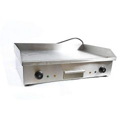 Electric Grill Griddle 4.4KW Commerical Electric Countertop Griddle Flat Hotplate Home BBQ Grill ...