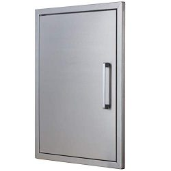 BBQ Island Doors Stainless Steel,17″ by 23″ Vertical Single Door Reversible Open Lef ...