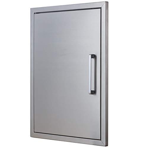 BBQ Island Doors Stainless Steel,17″ by 23″ Vertical Single Door Reversible Open Lef ...