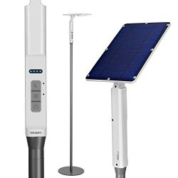 80″ Solar Light Outdoor 3,000K Soft Solar Floor Light for Outdoor Lawn Grill Light and Bac ...