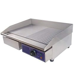 DULONG Commercial Electric Griddle Flat Top Grill Hot Plate Stainless Steel Kitchen Grill Counte ...