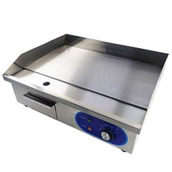 TAIMIKO Commercial Electric Griddle Flat Top Grill HotPlate Kitchen Grill CounterTop Stainless S ...