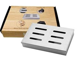Stainless Steel Smoker Box for BBQ Grill Wood Chips Top Meat in Barbecue Grilling Accessories fo ...