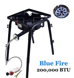 ARC USA,4039S,200,000BTU Outdoor Propane Burner with 20/28″ Option Adjustable Legs, 10R ...