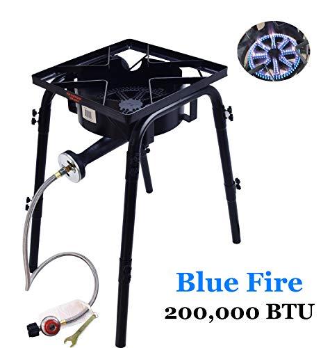 ARC USA,4039S,200,000BTU Outdoor Propane Burner with 20/28″ Option Adjustable Legs, 10R ...
