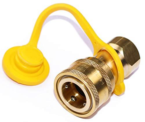DOZYANT 1/2″ QDD LP Gas Quick Connect/Disconnect Connector [8630] Solid Brass 1/2 PSIG Pre ...