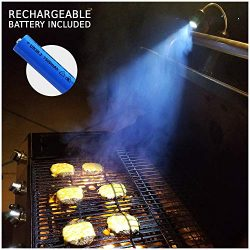 BRIGHT EYES Rechargeable Barbecue BBQ Light for Grilling – with Wide Adjustable Beam Width ...