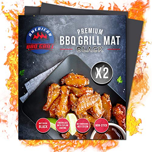 American BBQ Grill Mat – Set of 2 Non Stick Heavy Duty Grilling Mats – Perfect Barbe ...