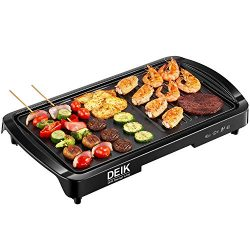 "Electric Griddle, DEIK 2-in-1 Indoor Grill Smokeless Coated Non-Stick Pancake Griddle, 20"" ..."