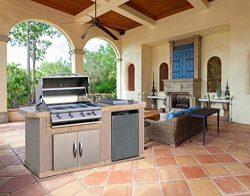 Cal Flame LBK-701-A-Z Master Chef 701A Outdoor BBQ Kitchen Island, Earth Tone